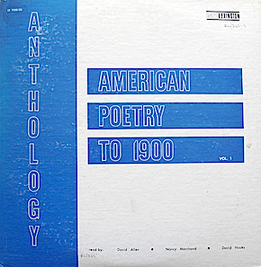 Anthology of American Poetry to 1900: Vol. 1. original soundtrack