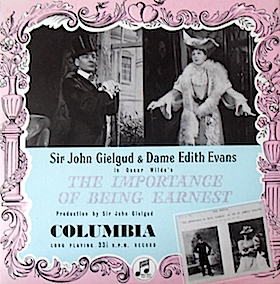 Importance of Being Earnest: Part One original soundtrack