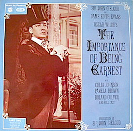 Importance of Being Earnest: Part Two original soundtrack