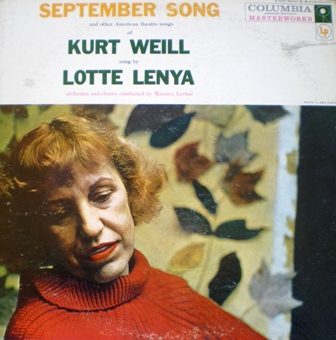 September Song: Lotte Lenya original soundtrack