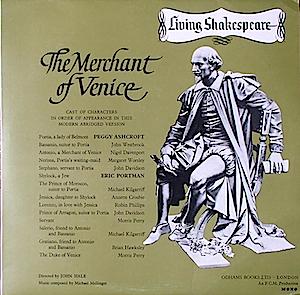 Shakespeare: Merchant of Venice original soundtrack