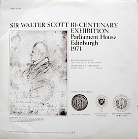 Sir Waklter Scott Bi-centenary Exhibition 1971 original soundtrack