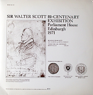 Sir Walter Scott Bi-Centenary Exhibition. Parliament House Edinburgh 1971 original soundtrack