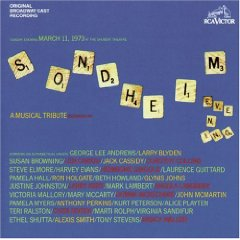 Sondheim Evening: 1973 Cast original soundtrack