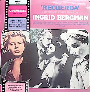 Spellbound & other classic films of Ingrid Bergman original soundtrack