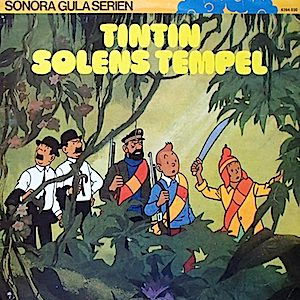 Tintin - Solens Tempel (Swedish version) original soundtrack