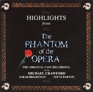 Phantom of the Opera: Highlights original soundtrack