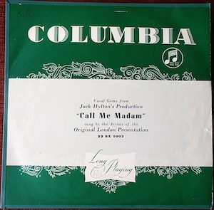 Call Me Madam: Original London Presentation original soundtrack
