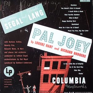 Pal Joey: 1952 cast original soundtrack