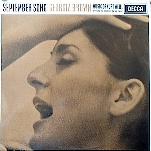 Kurt Weill: September song original soundtrack