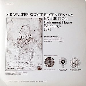 Sir Walter Scott Bi-Centenary Exhibition. Parliament House Edinburgh 1971 original soundtrack