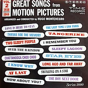 Great Songs from Motion Pictures: vol 2 original soundtrack