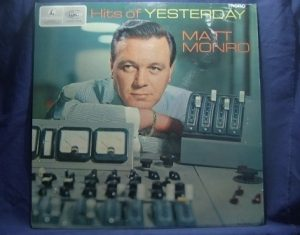 Hits of Yesterday, Matt Monro original soundtrack