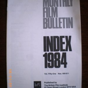 MFB Index 1984 original soundtrack