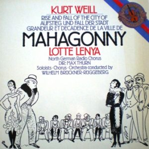 Mahagonny original soundtrack