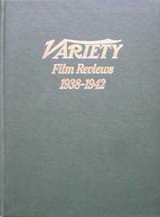 Variety Film Reviews: Vol.6 1938-1942 original soundtrack
