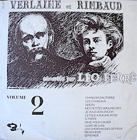 Verlaine et Rimbaud: Volume 2 original soundtrack