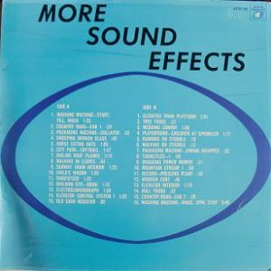 More Sound Effects original soundtrack