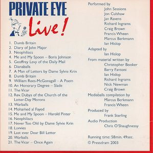 Private Eye: Live! original soundtrack