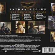 Batman Begins- Original Motion Picture Soundtrack back