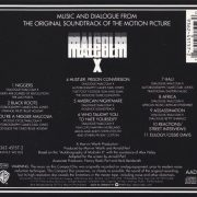 Malcolm X - Music And Dialogue From The Original Soundtrack Of The Motion Picture back