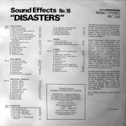 Sound Effects No. 16 - Disasters back