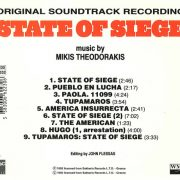 State Of Siege (Original Soundtrack Recording) back