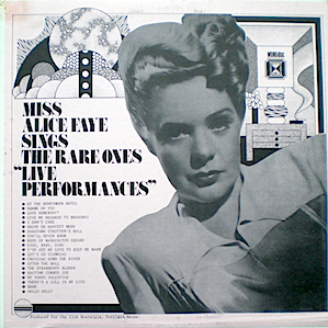 Alice Faye: Rare Ones original soundtrack