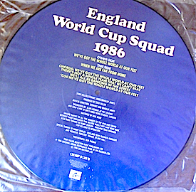 England World Cup Squad 1986: pic disc original soundtrack