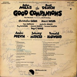 Good Companions: Autographed original soundtrack