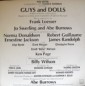 Guys and Dolls: Mowtown Broadway original soundtrack