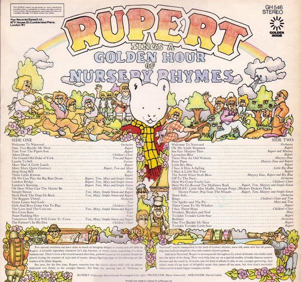 Rupert Sings A Golden Hour Of Nursery Rhymes original soundtrack