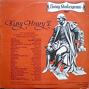 Shakespeare: King Henry V original soundtrack