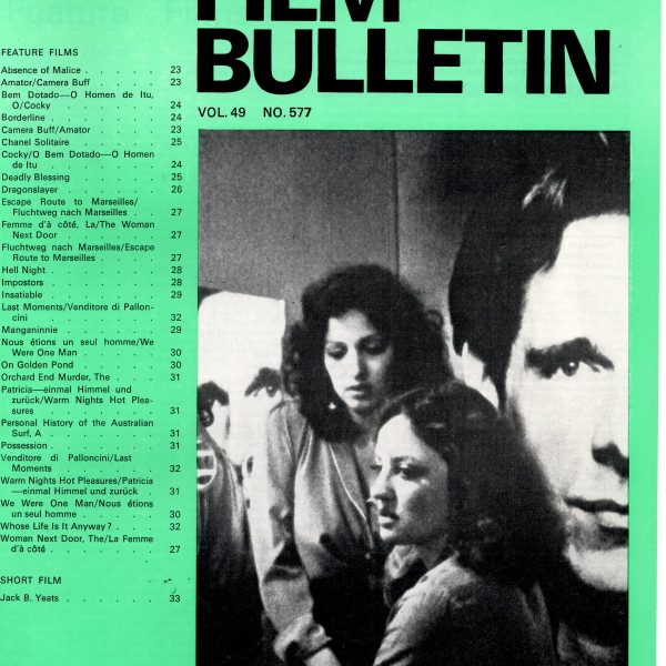 Monthly Film Bulletin Vol.49 No.577 February 1982