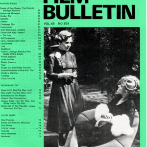 Monthly Film Bulletin Vol.49 No.579 April 1982