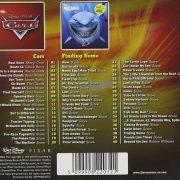 Cars Finding Nemo Soundtrack back