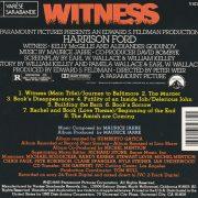 Maurice Jarre – Witness cd back