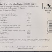 Film Scores By Max Steiner (1888-1971) (Treasure Of Sierra Madre Suite · The Charge Of The Light Brigade Suite) back