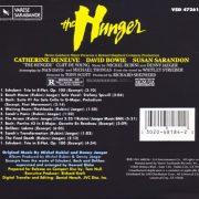 The Hunger (Original Motion Picture Soundtrack) back
